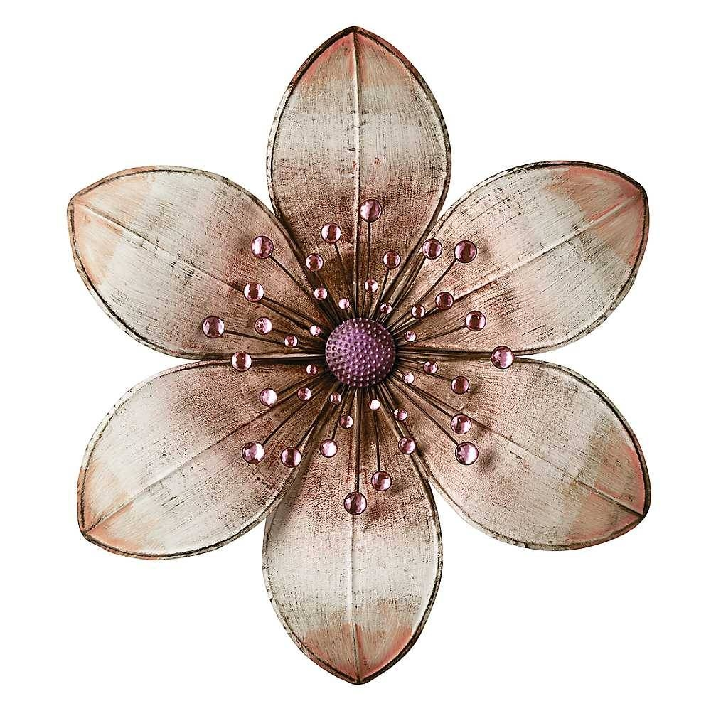 Wall Art: Best Pictures About Metal Wall Art Flowers Contemporary Within Latest Metal Wall Art Flowers (View 6 of 20)