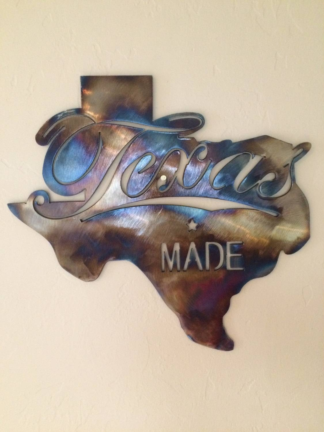 Wall Art: Classic Design About Texas Star Metal Wall Art State Of Within 2017 Texas Metal Wall Art (View 2 of 20)