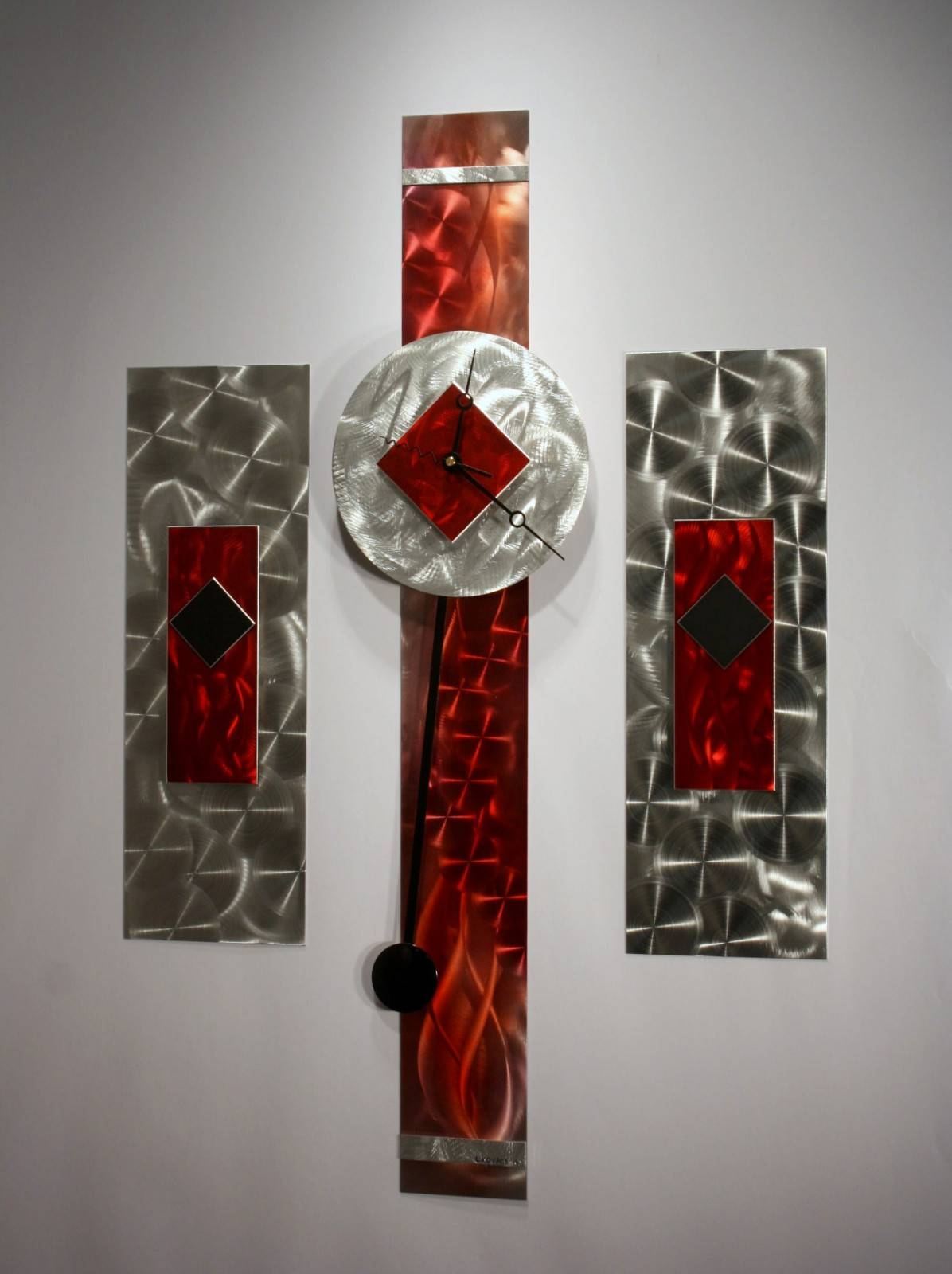 Wall Art: Collection Idea Metal Wall Art Sculptures Metal Wall Art In Most Recently Released Red And Black Metal Wall Art (View 13 of 20)