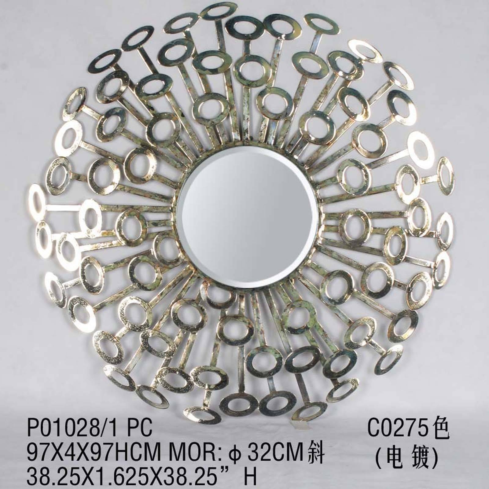 Wall Art Decor: Interior Decoration Metal Wall Art With Mirrors Pertaining To Newest Round Metal Wall Art (View 11 of 20)