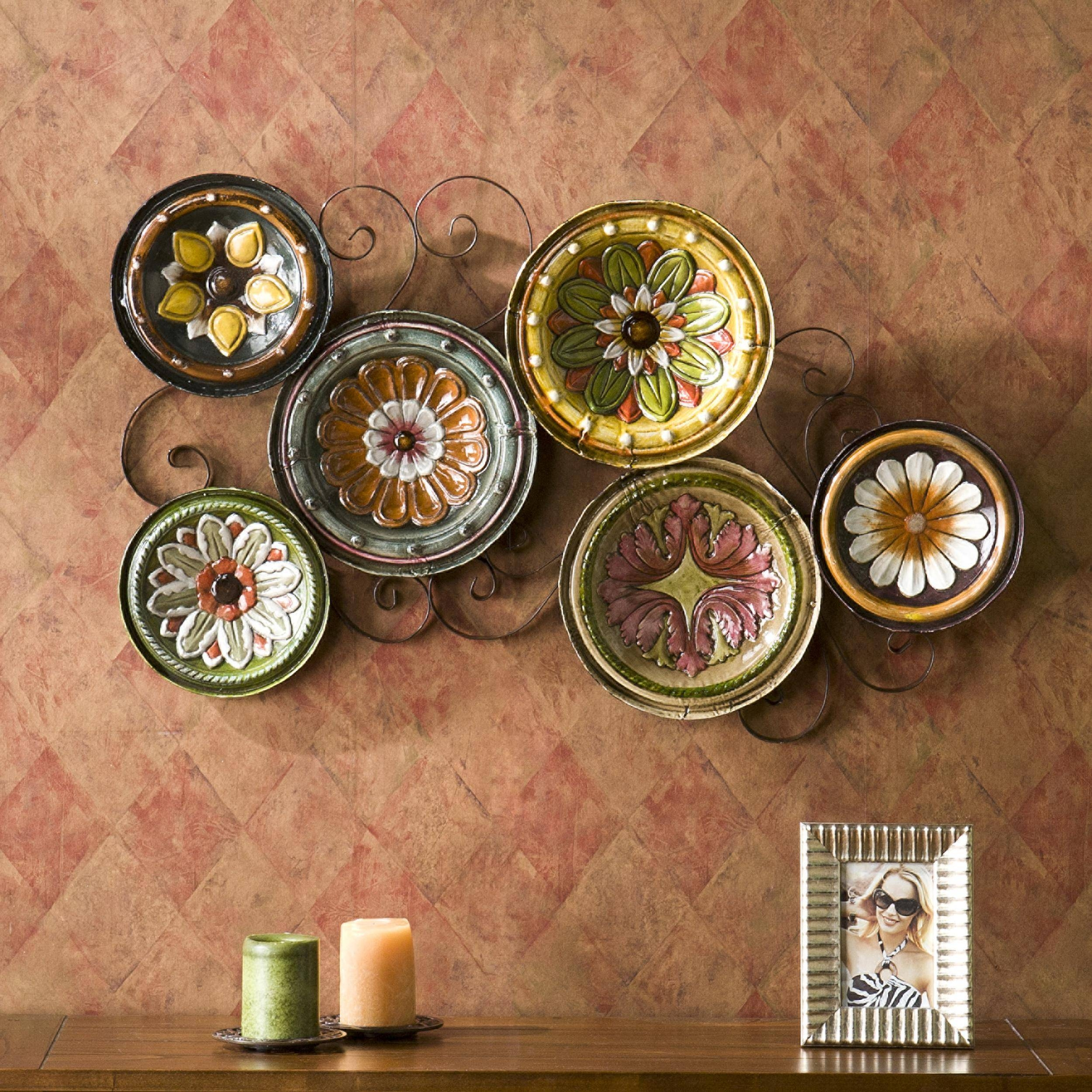 Wall Art Decor: Unique Decoration Plates Wall Art Full Frame Good In Newest Kitchen Metal Wall Art Decors (View 17 of 20)