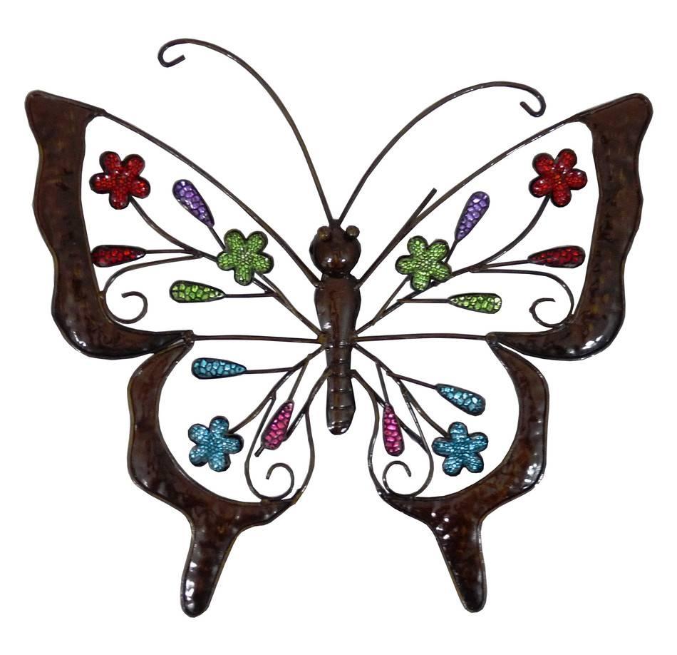 Wall Art Design Ideas: Best Outdoor Butterfly Wall Art, Metal Inside Best And Newest Butterflies Metal Wall Art (View 9 of 20)