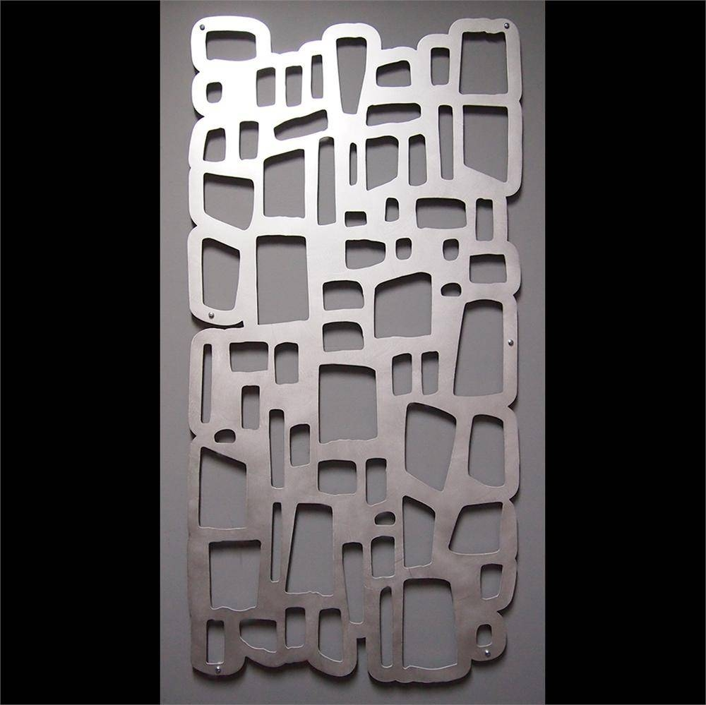 Wall Art Design Ideas: Black Brushed Aluminum Wall Art Simple With Recent Brushed Metal Wall Art (View 8 of 20)