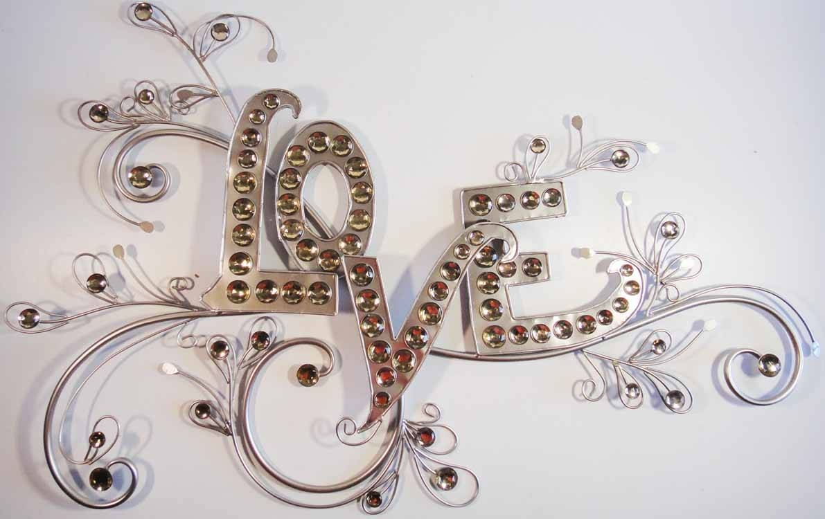 Wall Art Design Ideas: Brilliant Creative Love Metal Wall Art Regarding Newest Love Metal Wall Art (View 15 of 20)
