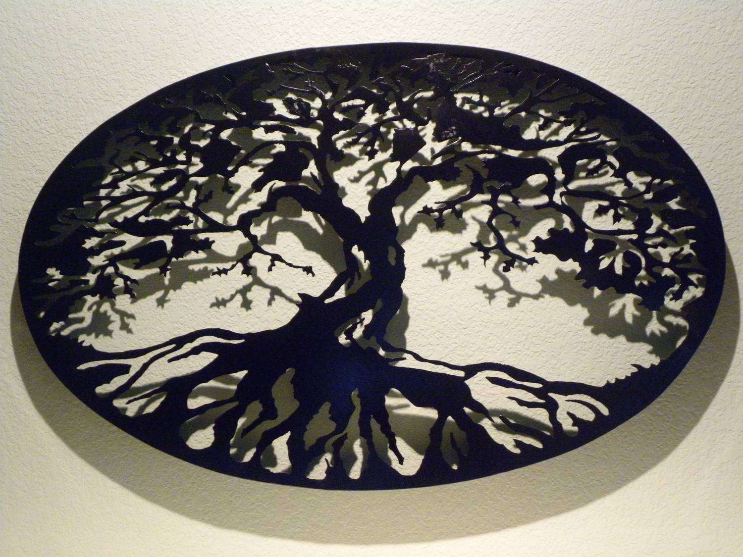 Wall Art Design Ideas: Dimension Tree Of Life Metal Wall Art Black With Regard To Most Recent Large Tree Of Life Metal Wall Art (View 2 of 20)