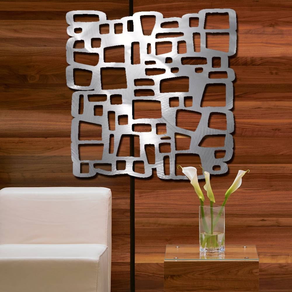 Wall Art Design Ideas: Fantastic Modern Brushed Aluminum Wall Art In Most Current Brushed Metal Wall Art (View 14 of 20)