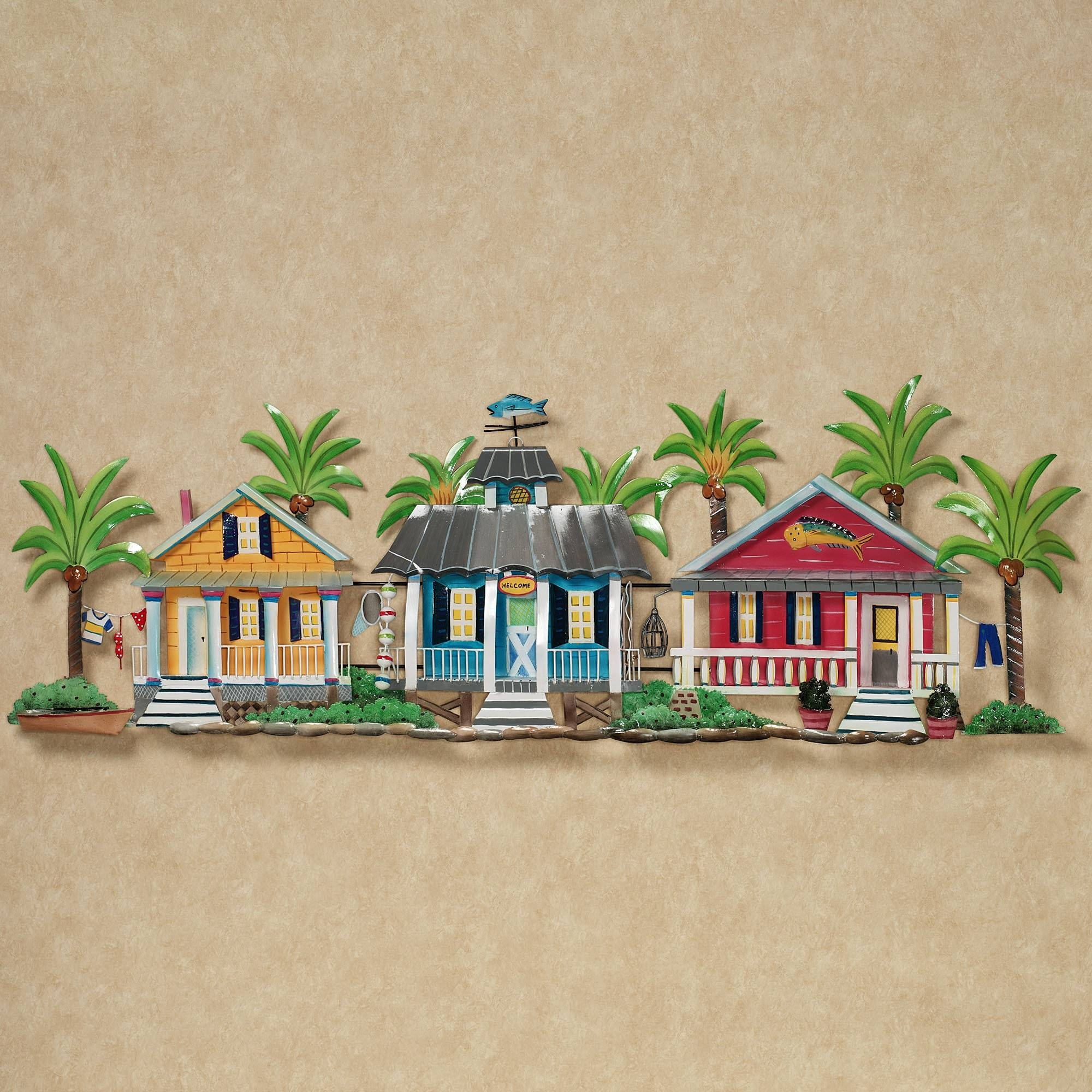 Wall Art Design Ideas: Gateway Metal Caribbean Wall Art Escape With Most Current Metal Wall Art Palm Trees (View 10 of 20)