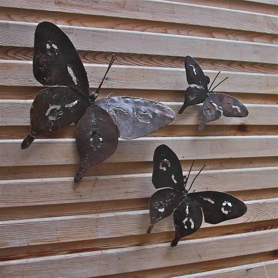 Wall Art Design Ideas: Outdoor Metal Butterfly Wall Art, Indoor Regarding Most Current Garden Metal Wall Art (View 16 of 20)