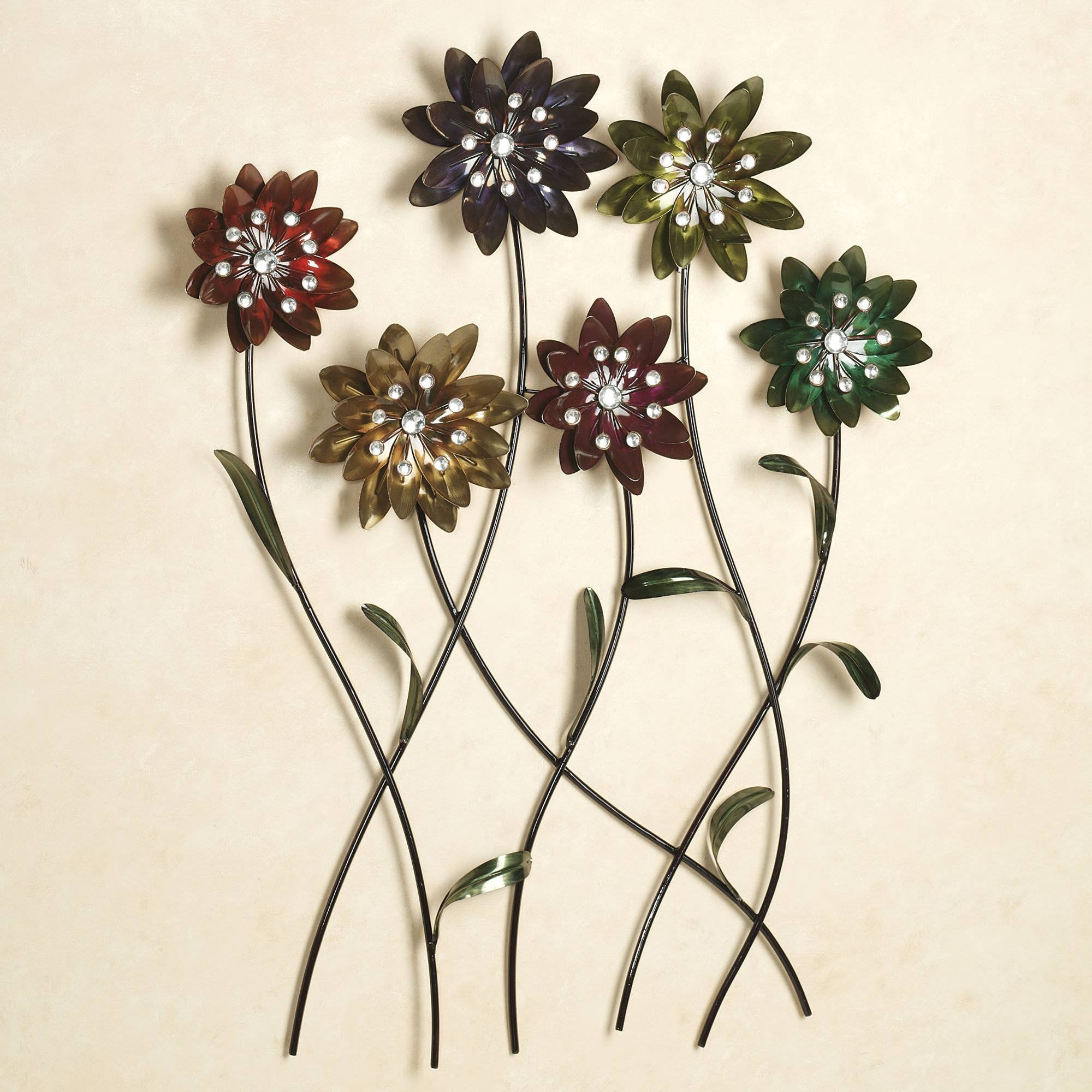Wall Art Design Ideas: Touchofclass Metal Wall Flower Art Sample Throughout 2017 Floral Metal Wall Art (View 18 of 20)