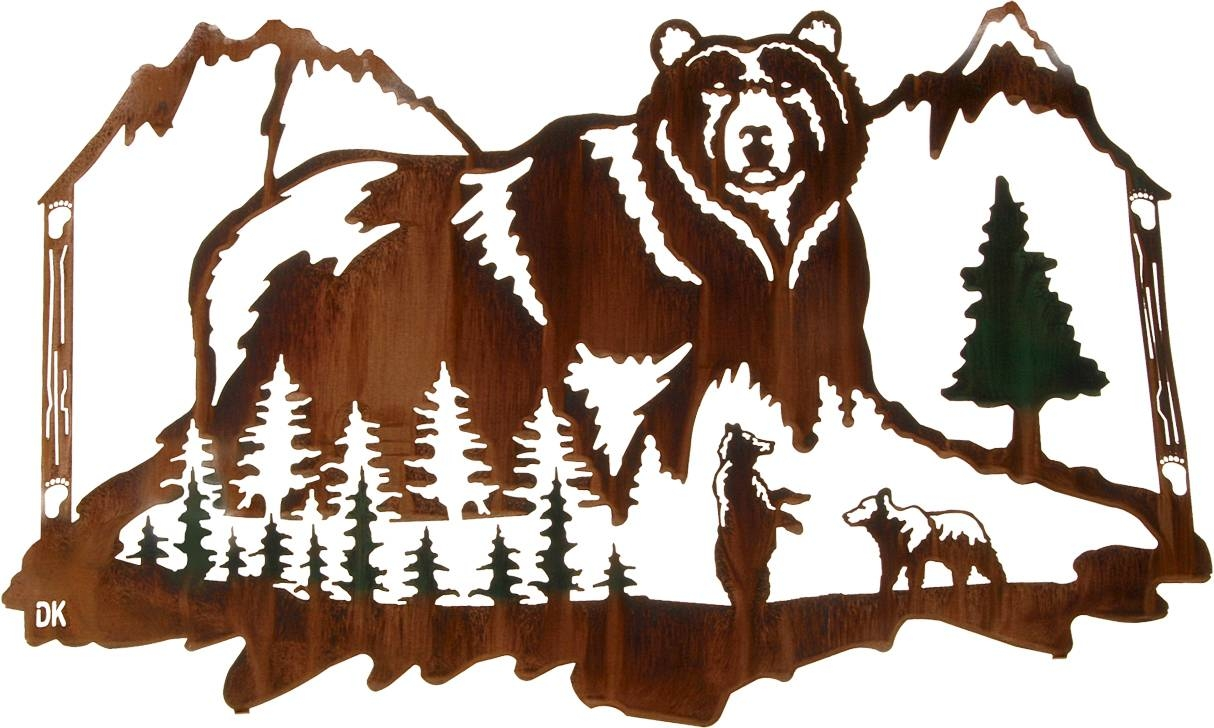 Wall Art Design Ideas: Wildlife Jungles Green Bear Wall Art Colors Intended For 2017 Bear Metal Wall Art (View 17 of 20)