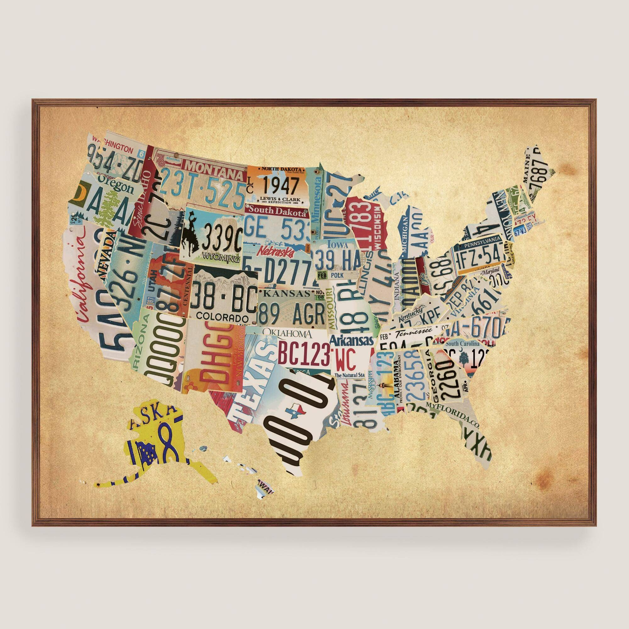 Photos of Usa Map Wall Art (Showing 15 of 20 Photos)