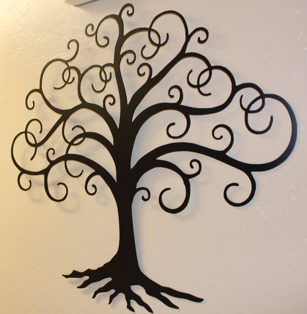 Wall Art Designs: Beautiful Tree Wall Art, Metal Wall Art Wall Art Regarding 2018 Black Metal Wall Art Decor (Gallery 11 of 20)