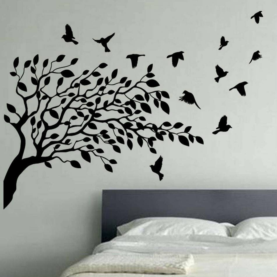 Wall Art Designs: Bird Wall Art Bird Vinyl Wall Art Trees Branches Inside Most Current Birds On A Branch Metal Wall Art (View 17 of 20)
