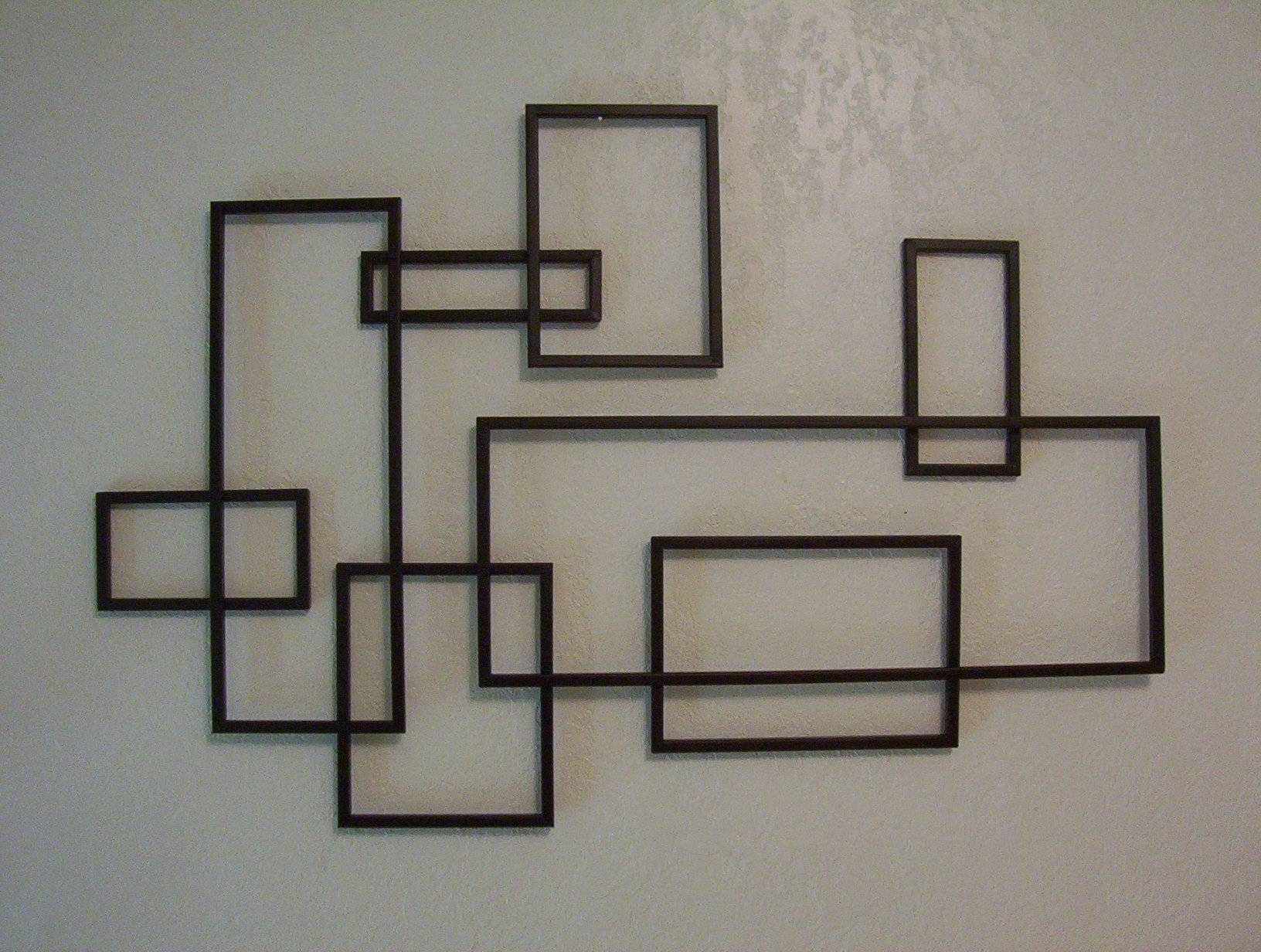 Wall Art Designs: Black Metal Wall Art Mid Century Modern De Stijl Intended For Newest Black Metal Wall Art Decor (View 14 of 20)