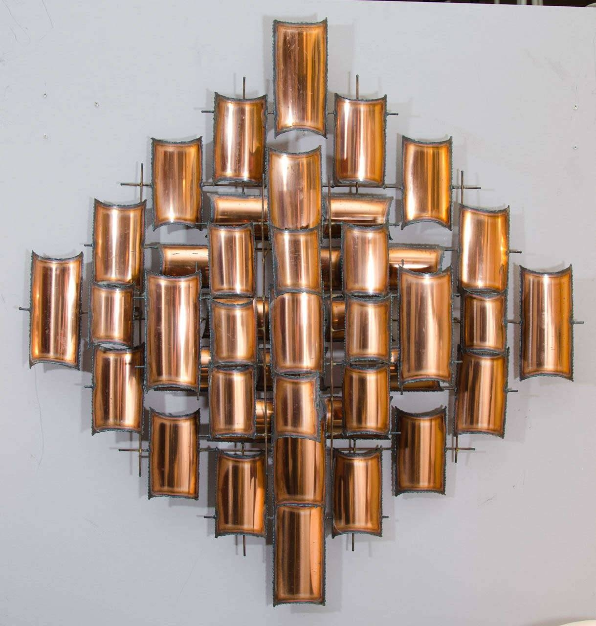 Wall Art Designs: Copper Wall Art Home Decorate Wall Art Abstract For Most Current Copper Metal Wall Art (View 2 of 20)