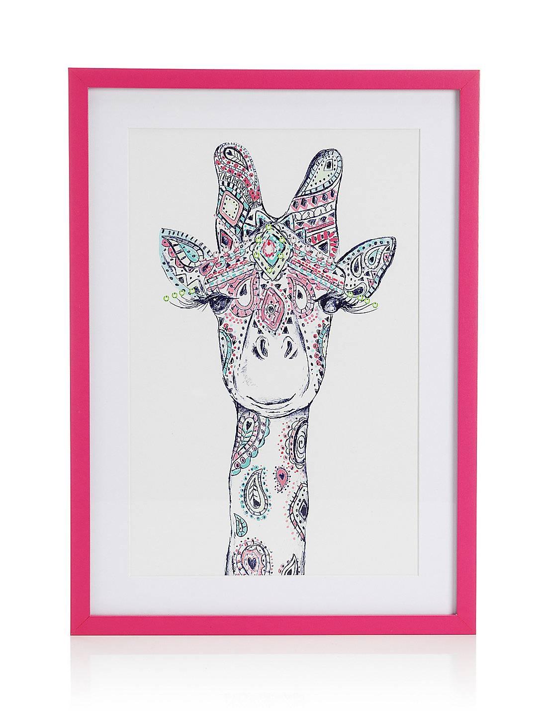 Wall Art Designs: Giraffe Wall Art Giraffe Wall Decor Framed Wall Pertaining To Latest Giraffe Metal Wall Art (View 18 of 20)