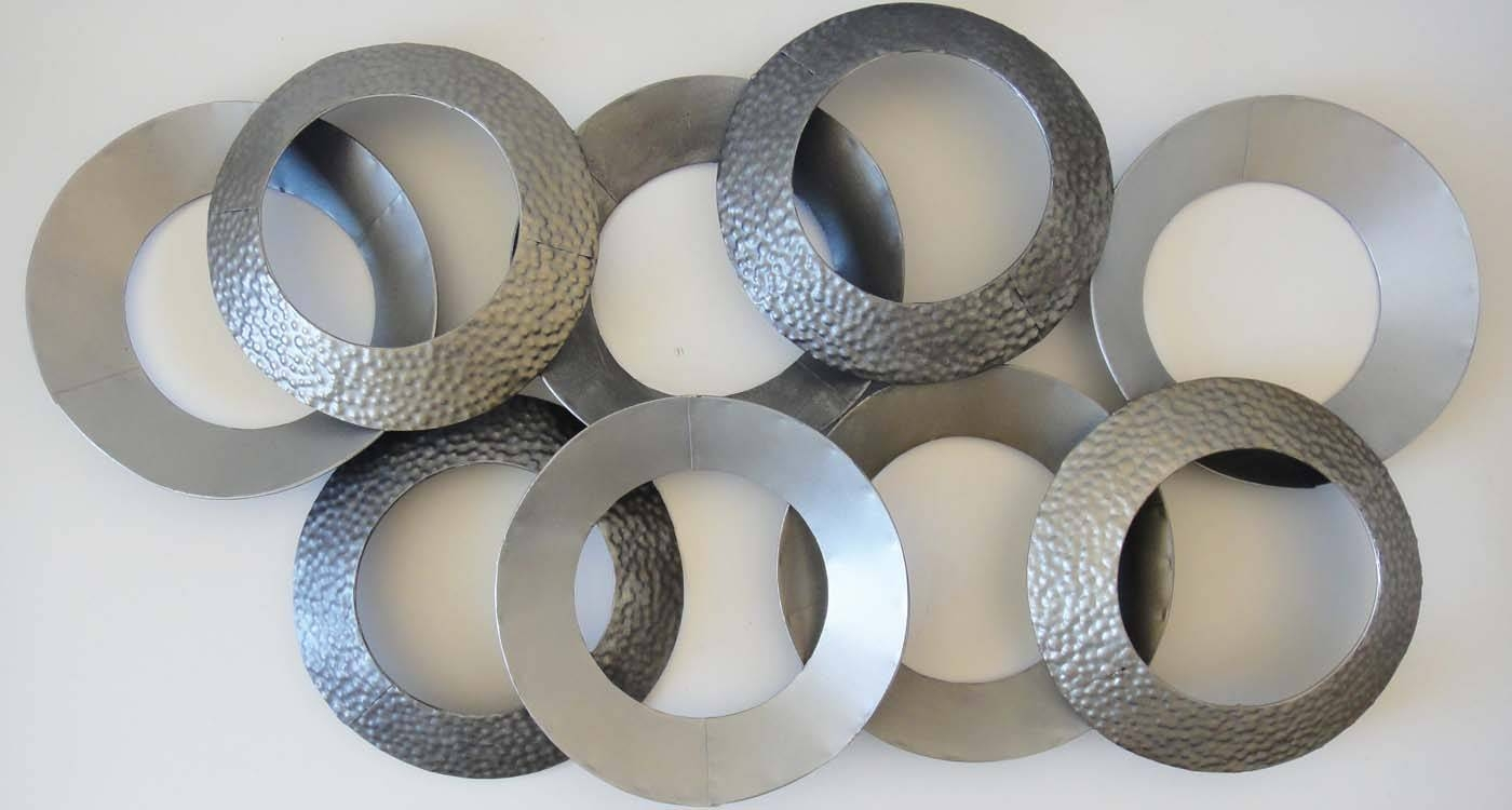Wall Art Designs: Large Metal Wall Art Metal Wall Art Linked In Most Current Large Round Metal Wall Art (View 17 of 20)