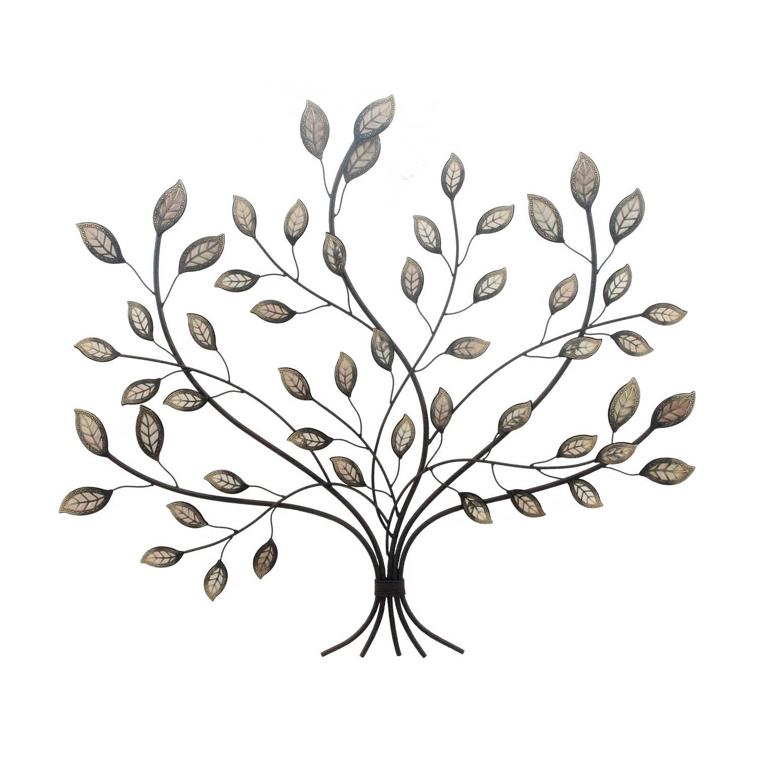 Wall Art Designs: Leaf Wall Art Wall Art Hanging Rustic Bronze For Most Current Metal Wall Art Trees And Leaves (View 2 of 20)