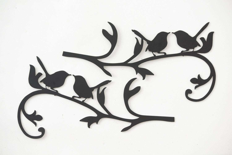 Wall Art Designs: Metal Bird Wall Art Hand Drawn And Laser Cut For Latest Plasma Cut Metal Wall Art (View 3 of 20)