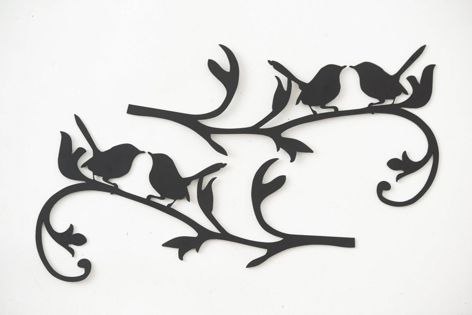 Wall Art Designs: Metal Bird Wall Art Hand Drawn And Laser Cut With Regard To Most Popular Branches Metal Wall Art (View 11 of 20)