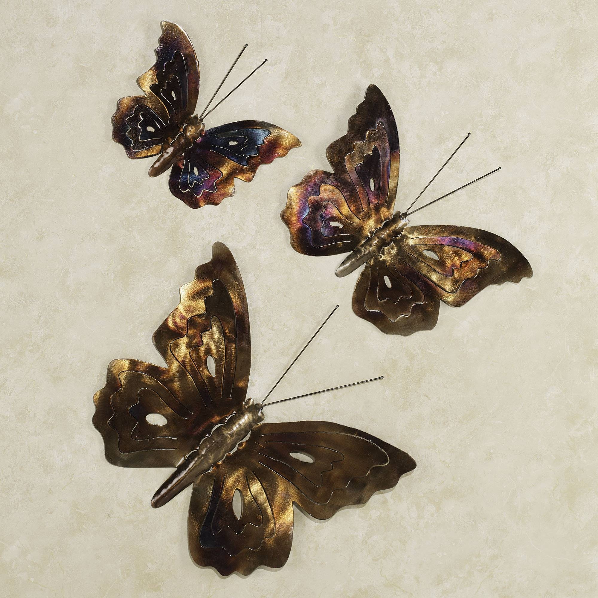 Nice Wall Art Designs: Metal Butterfly Wall Art Metal Butterfly Wall Within Most  Current Butterflies Metal
