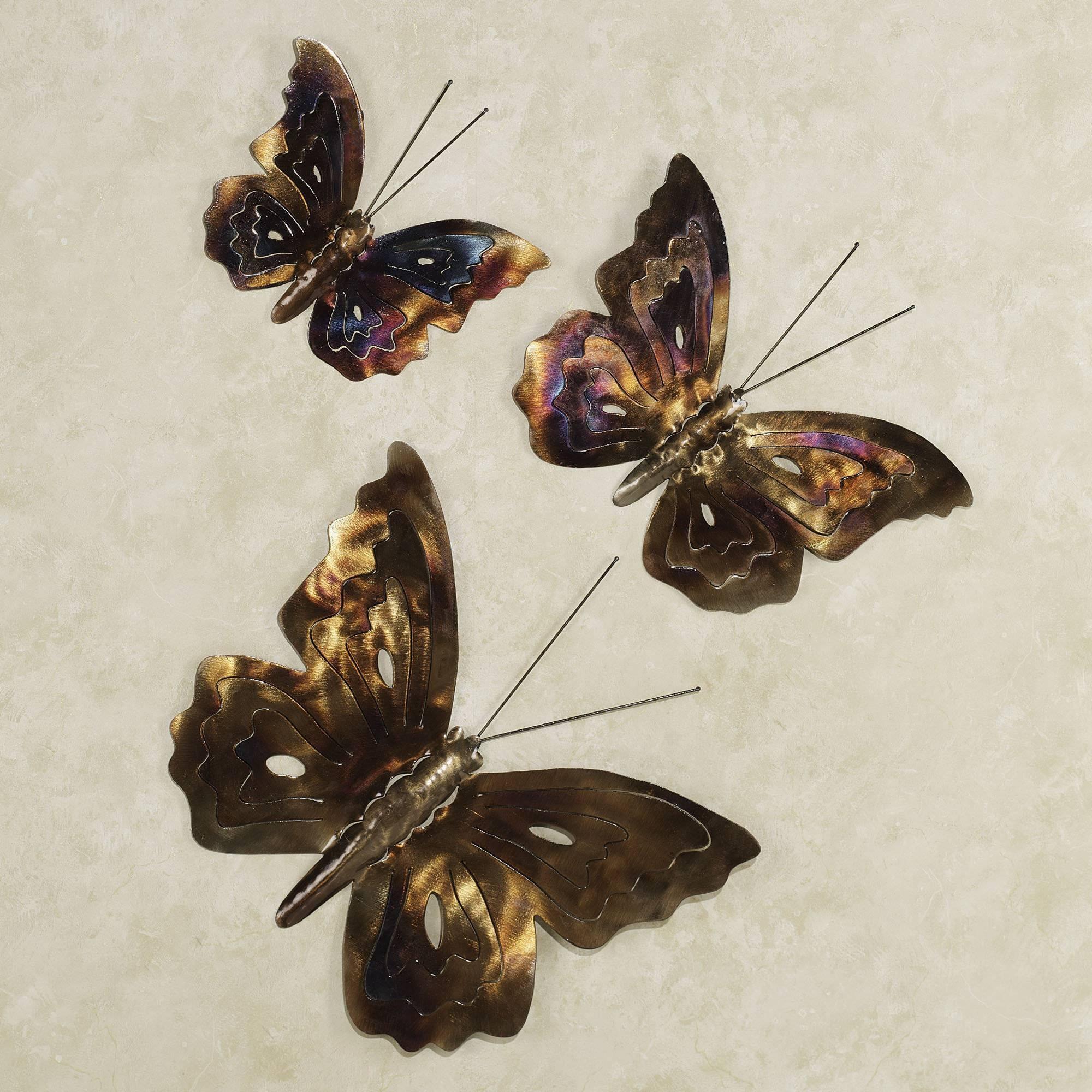 Wall Art Designs: Metal Butterfly Wall Art Metal Butterfly Wall Within Most Current Butterflies Metal Wall Art (View 5 of 20)