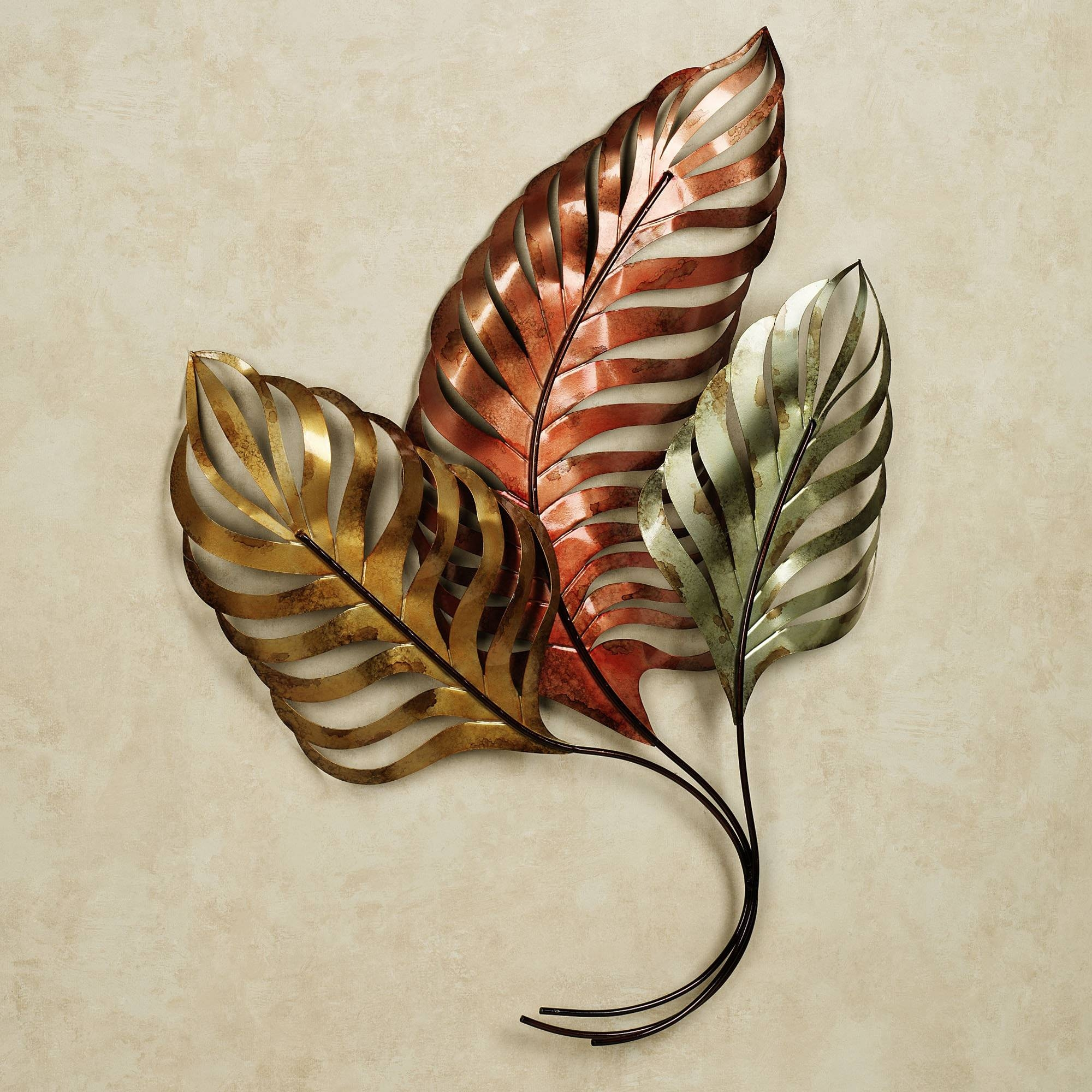 Wall Art Designs: Metal Wall Art Home Sunlit Palms Tropical Metal With Regard To Latest Metal Wall Art Sculptures (View 14 of 20)