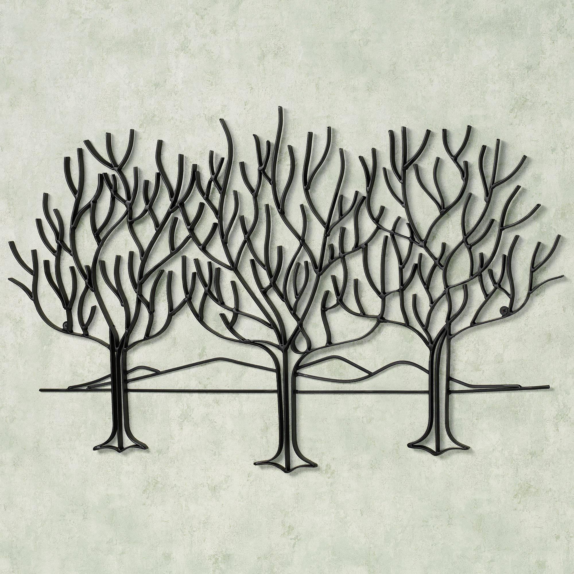 Wall Art Designs: Metal Wall Art Trees Black Metal Wall Art Olive Regarding Most Popular Metal Wall Art Palm Trees (View 6 of 20)