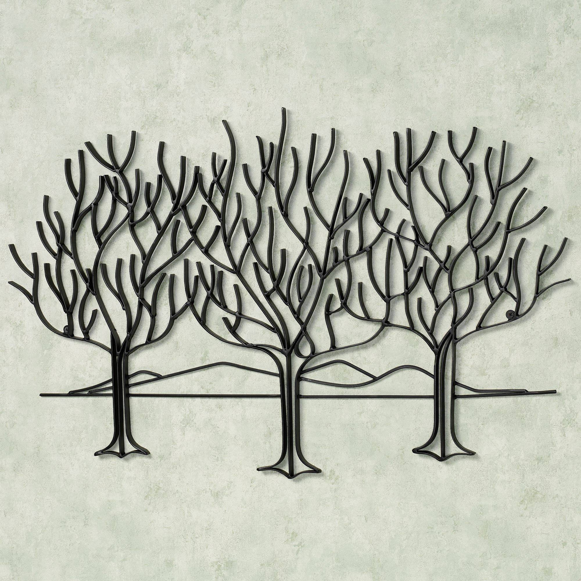 Wall Art Designs: Metal Wall Art Trees Black Metal Wall Art Olive Throughout Most Recently Released Black Metal Wall Art (View 9 of 20)