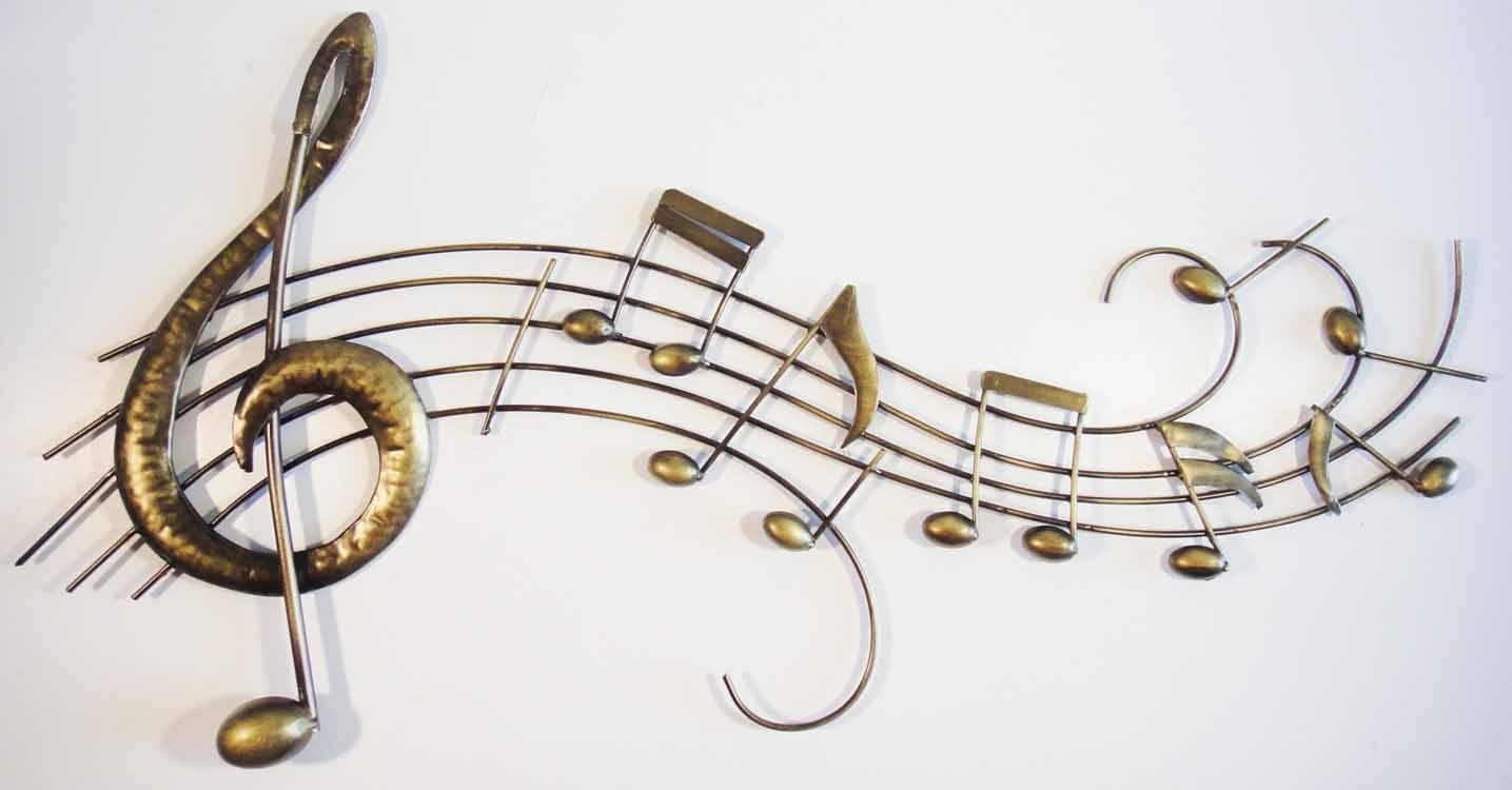 Wall Art Designs: Music Wall Art Music Metal Wall Decor Bronze Intended For Most Popular Indoor Metal Wall Art (View 18 of 20)