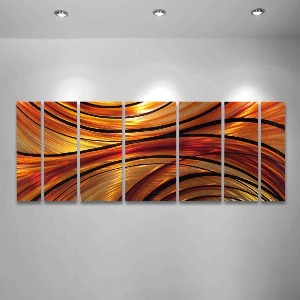 Wall Art Designs: Orange Wall Art Orange Large Modern Abstract With Most Popular Orange Metal Wall Art (View 1 of 20)