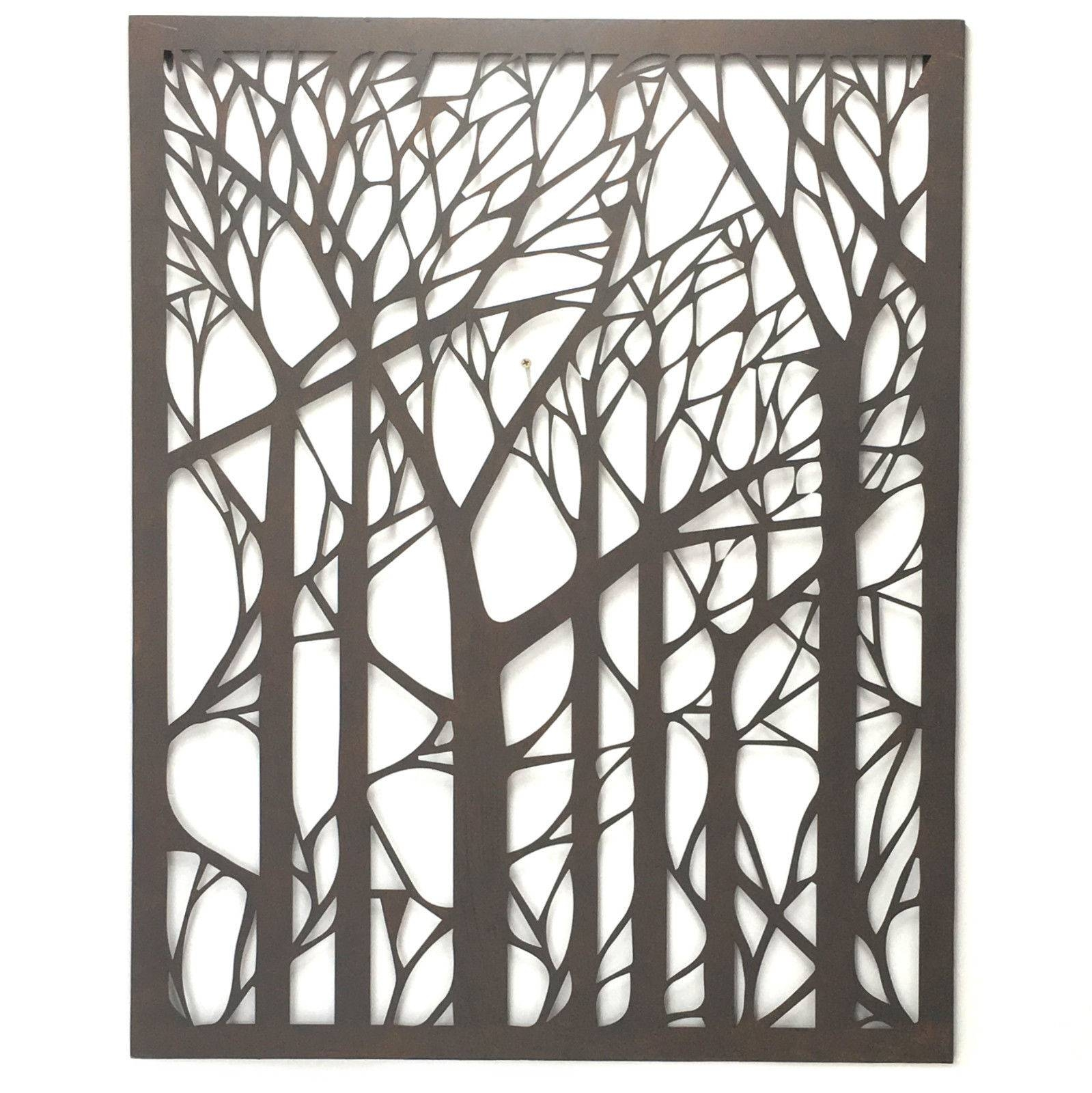 Wall Art Designs: Outdoor Wall Art Metal Tree Metal Wall Art Inside Best And Newest Outdoor Large Metal Wall Art (View 16 of 20)