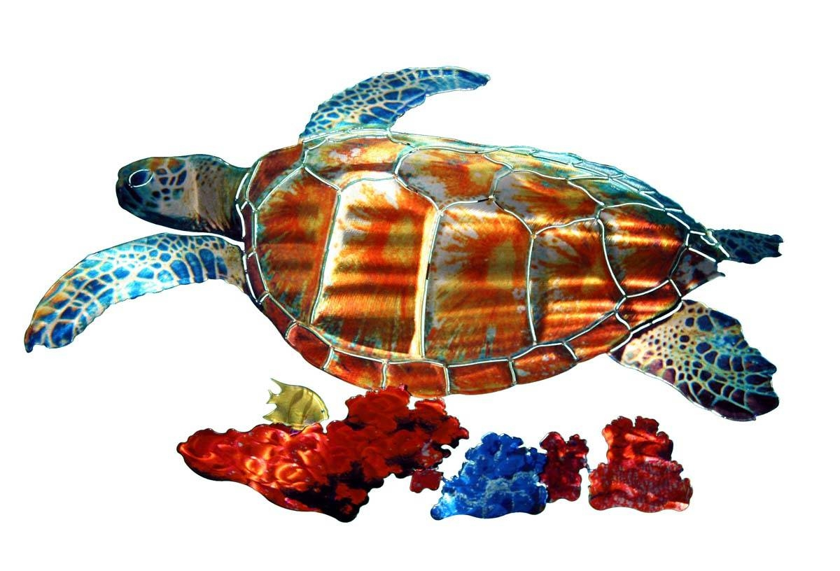 Wall Art Designs: Sea Turtle Wall Art Tropical Sea Turtle Metal Pertaining To Newest Sea Turtle Metal Wall Art (View 15 of 20)