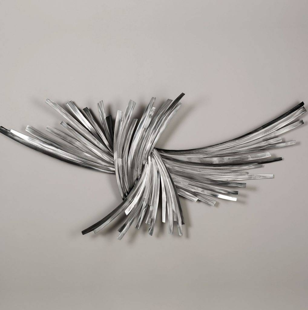 Wall Art Designs: Silver Metal Wall Art Abstract Pattern Silver With Regard To Most Popular Black And Silver Metal Wall Art (View 13 of 20)