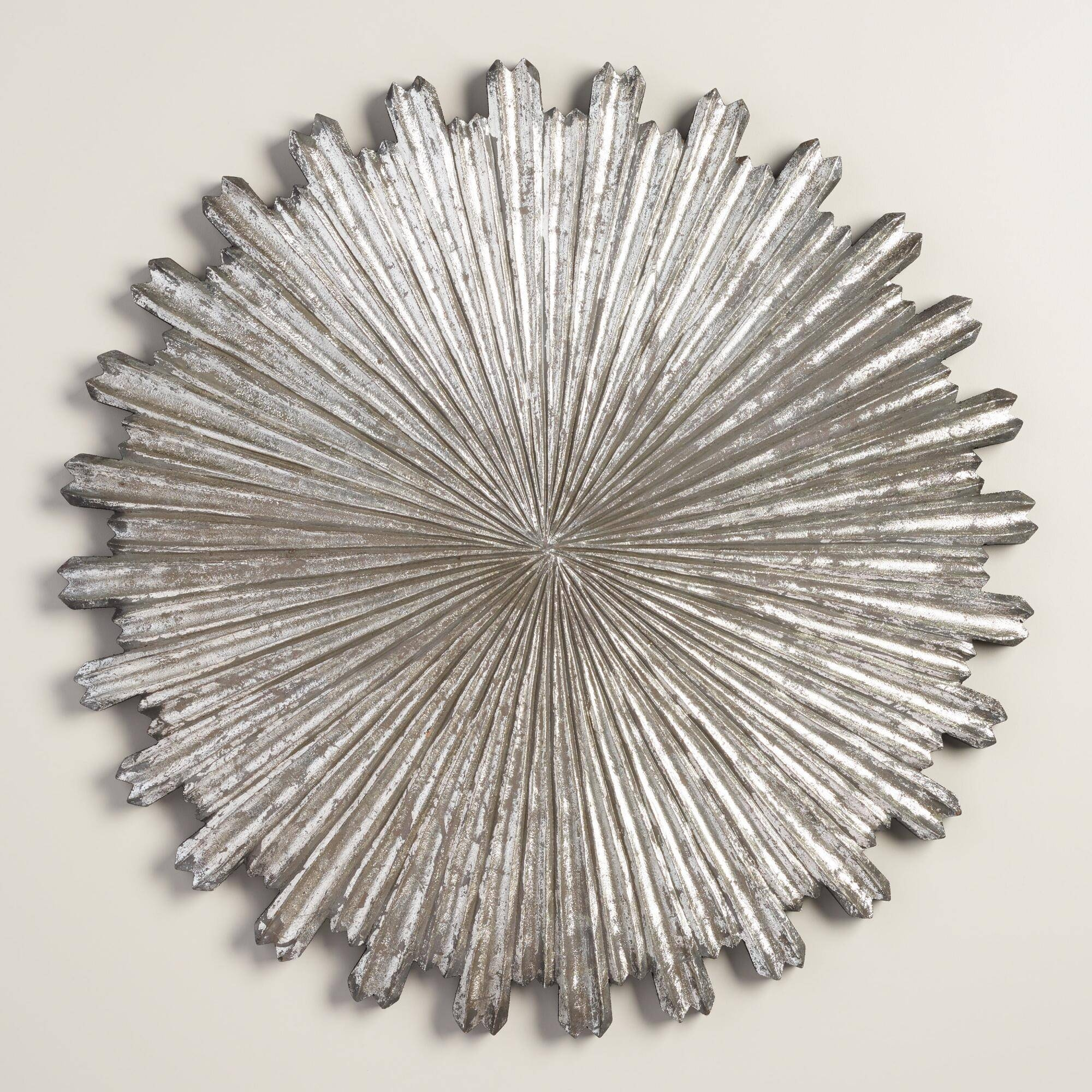 Wall Art Designs: Silver Metal Wall Art Silver Wall Decor On Metal Intended For Newest Sunburst Metal Wall Art (View 16 of 20)