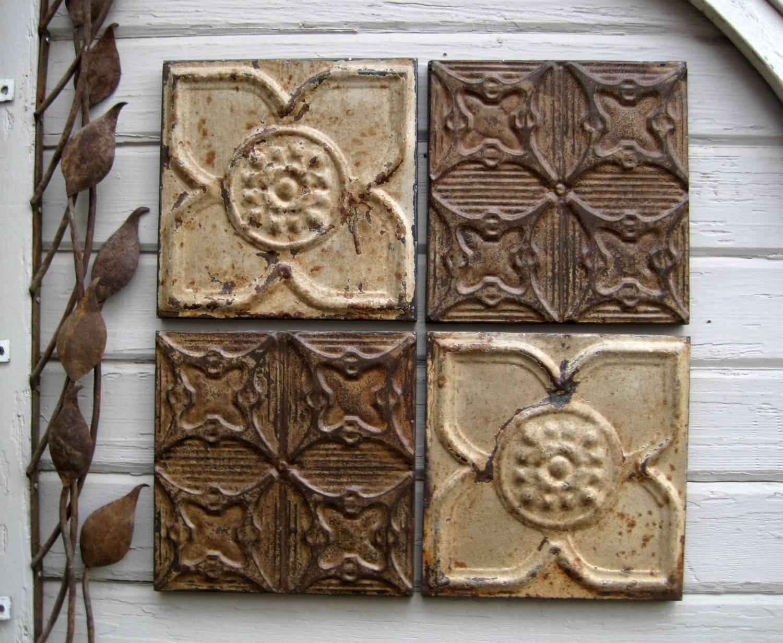 Wall Art Designs: Tin Wall Art Custom Antique Tin Ceiling Tiles Inside Most Popular Faux Metal Wall Art (View 18 of 20)