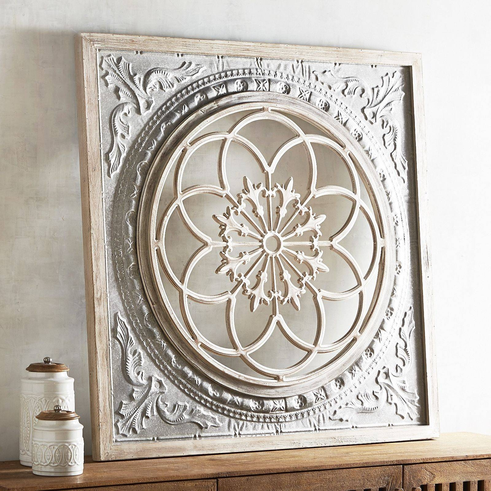 Wall Art Designs: Tin Wall Art Galvanized Medallion Wall Decor Within Latest Square Metal Wall Art (View 14 of 20)