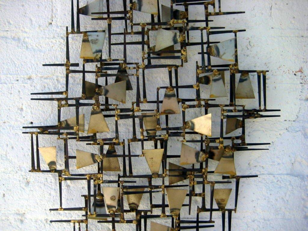 Wall Art Designs: Wall Metal Art A Vintage 1960S Hand Wrought With Regard To Most Popular Abstract Metal Wall Art Sculptures (View 19 of 20)