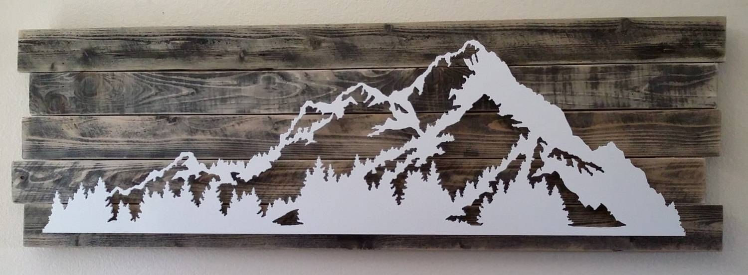 Wall Art Ideas Design : 3D Metal Art Wall Sculpture Mountain Sea With Regard To 2018 Mountains Metal Wall Art (View 18 of 20)