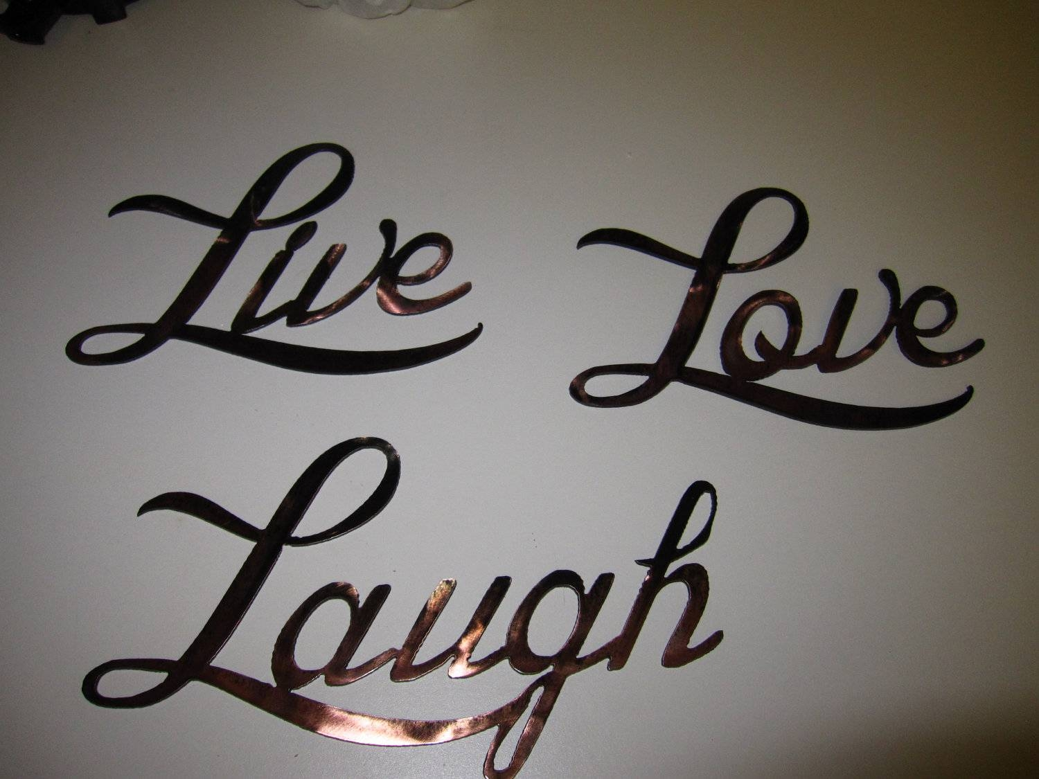 Wall Art: Marvelous Design Metal Wall Art Words Metal Wall Words Pertaining To Most Up To Date Live Laugh Love Metal Wall Art (View 10 of 20)