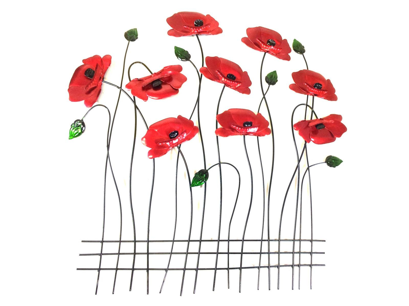Wall Art – Poppy Flower Scene Inside 2018 Poppy Metal Wall Art (View 1 of 20)