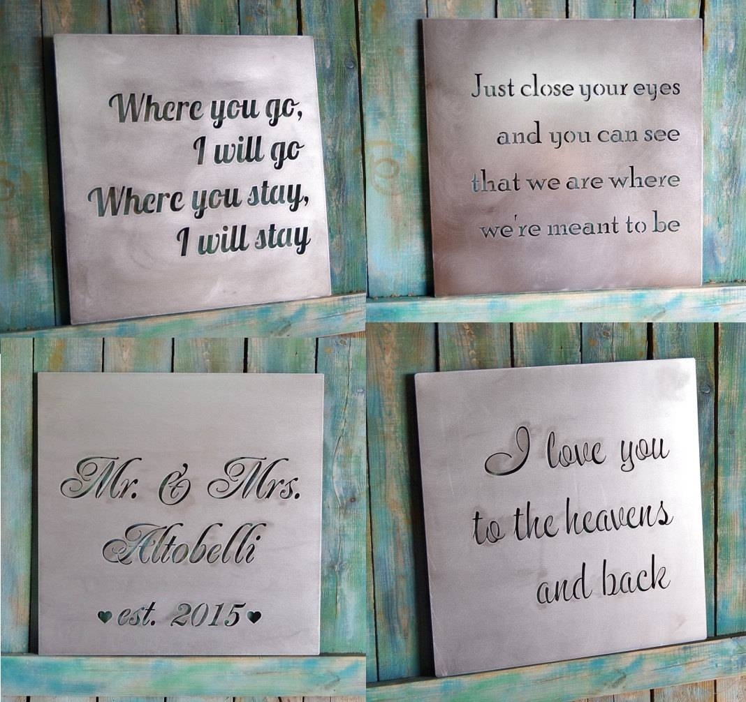 Wall Art Sayings | Roselawnlutheran With Regard To Most Recent Metal Wall Art Words (View 14 of 20)