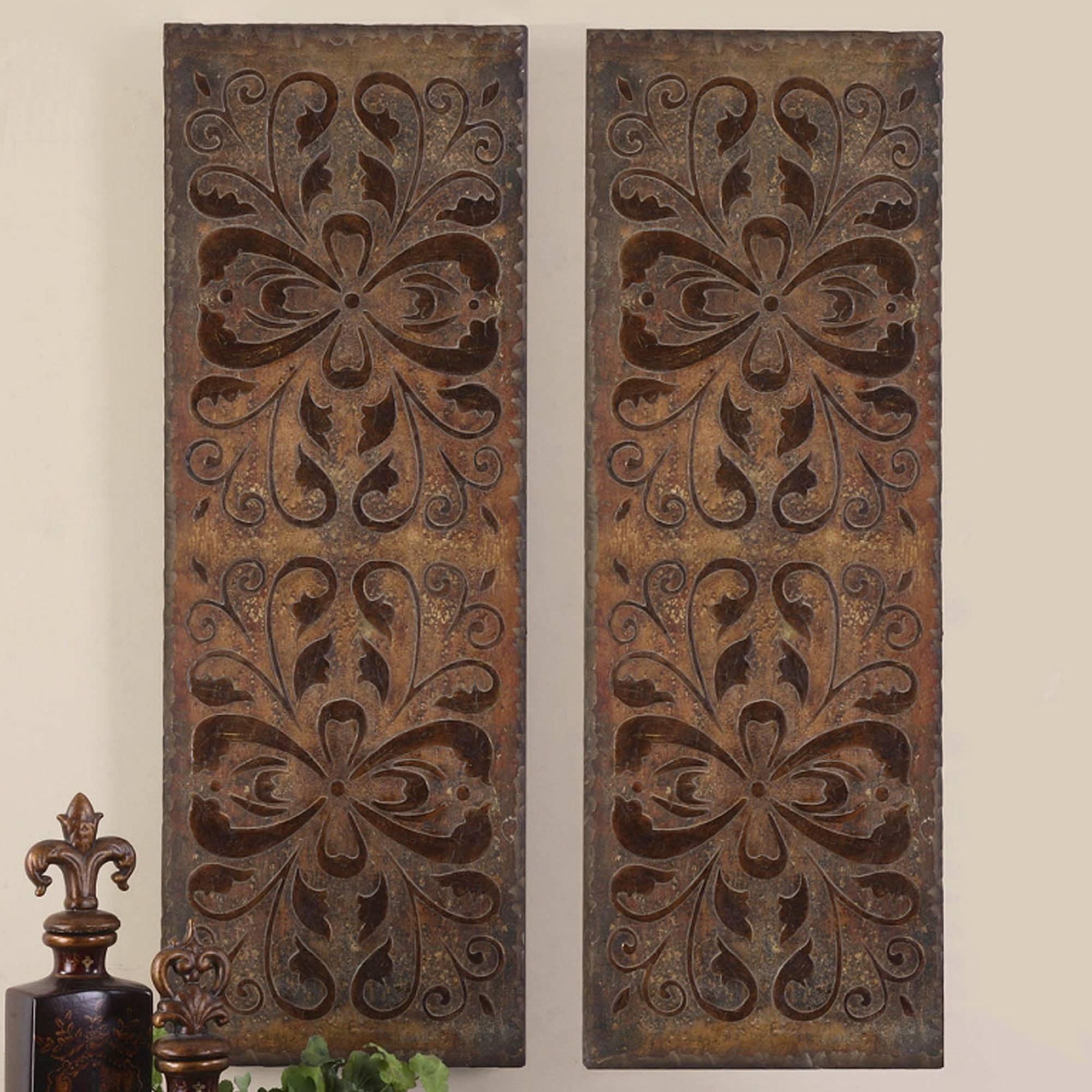 Wall Art: Top Ten Wall Art Wood Panels Crate And Barrel Wall Art With 2018 Distressed Metal Wall Art (View 8 of 20)