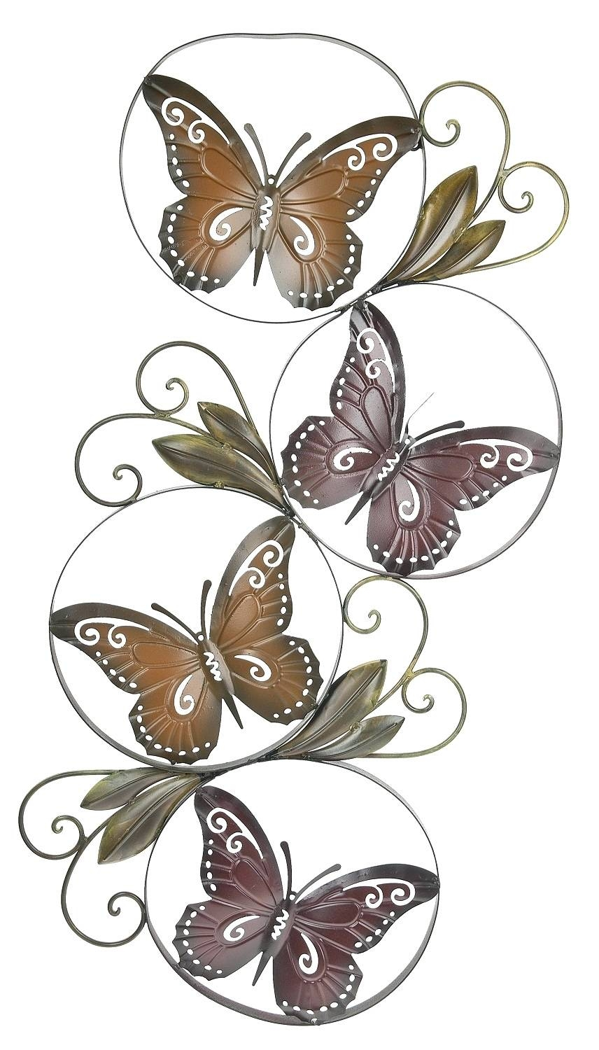 Wall Arts ~ 3D Butterfly Metal Outdoor Wall Art Butterfly Garden For Most  Up To Date