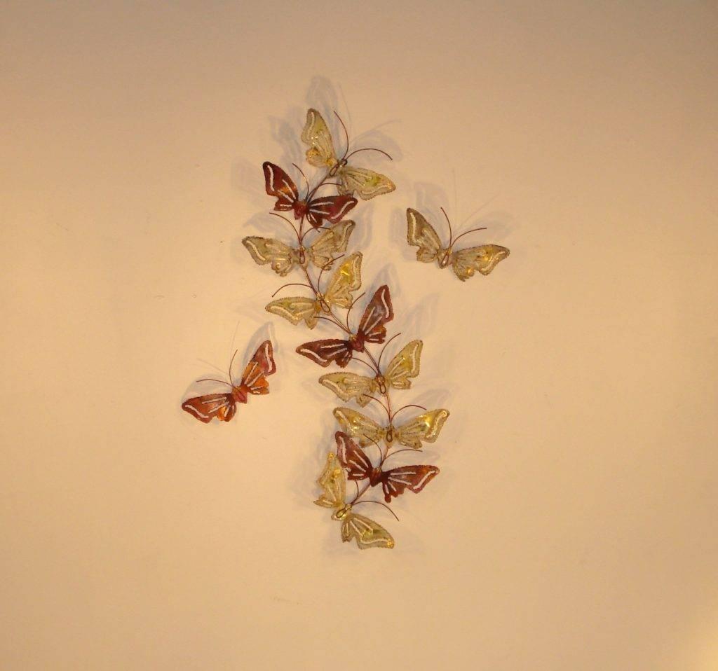 Wall Arts ~ 3D Butterfly Metal Outdoor Wall Art Butterfly Garden With Current Butterfly Garden Metal Wall Art (View 20 of 20)