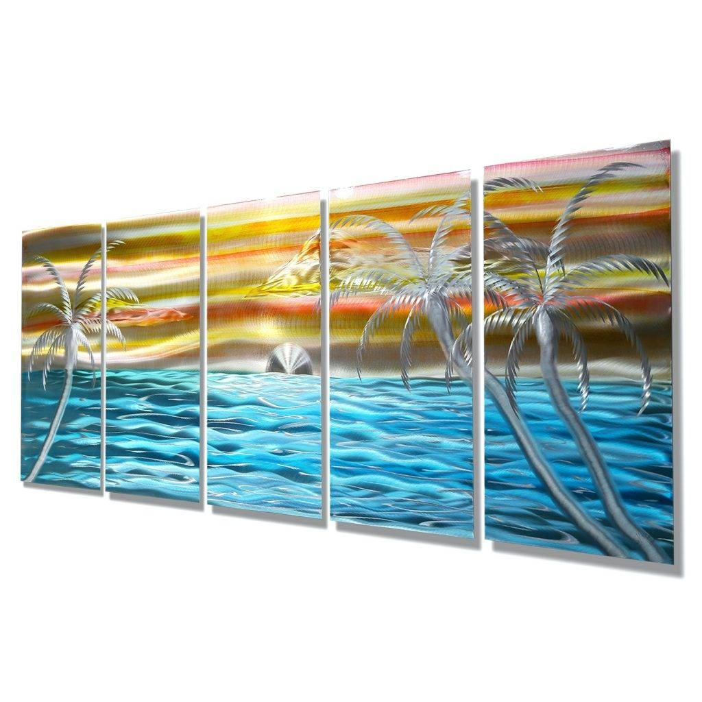 Wall Arts ~ Beach Umbrella Metal Wall Art Beach Inspired Metal Pertaining To Current Beach Themed Metal Wall Art (View 6 of 20)
