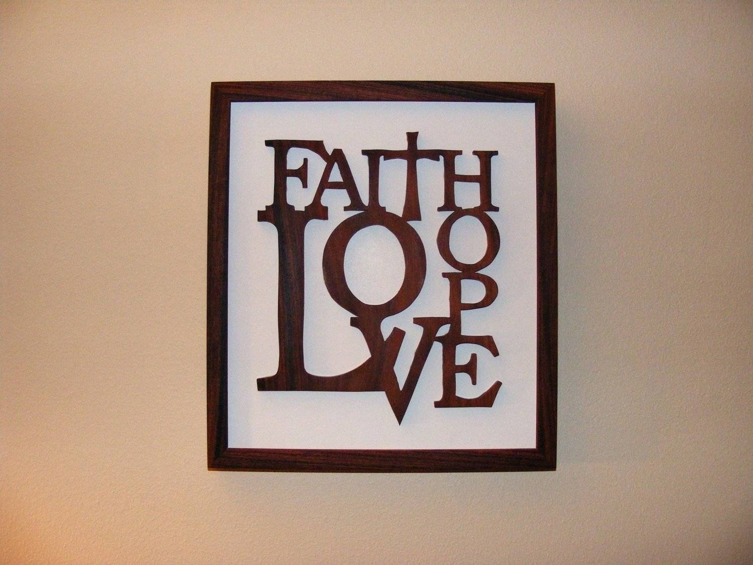Wall Arts ~ Because Someone We Love Is In Heaven Inspirational In Newest Faith Hope Love Metal Wall Art (View 19 of 20)