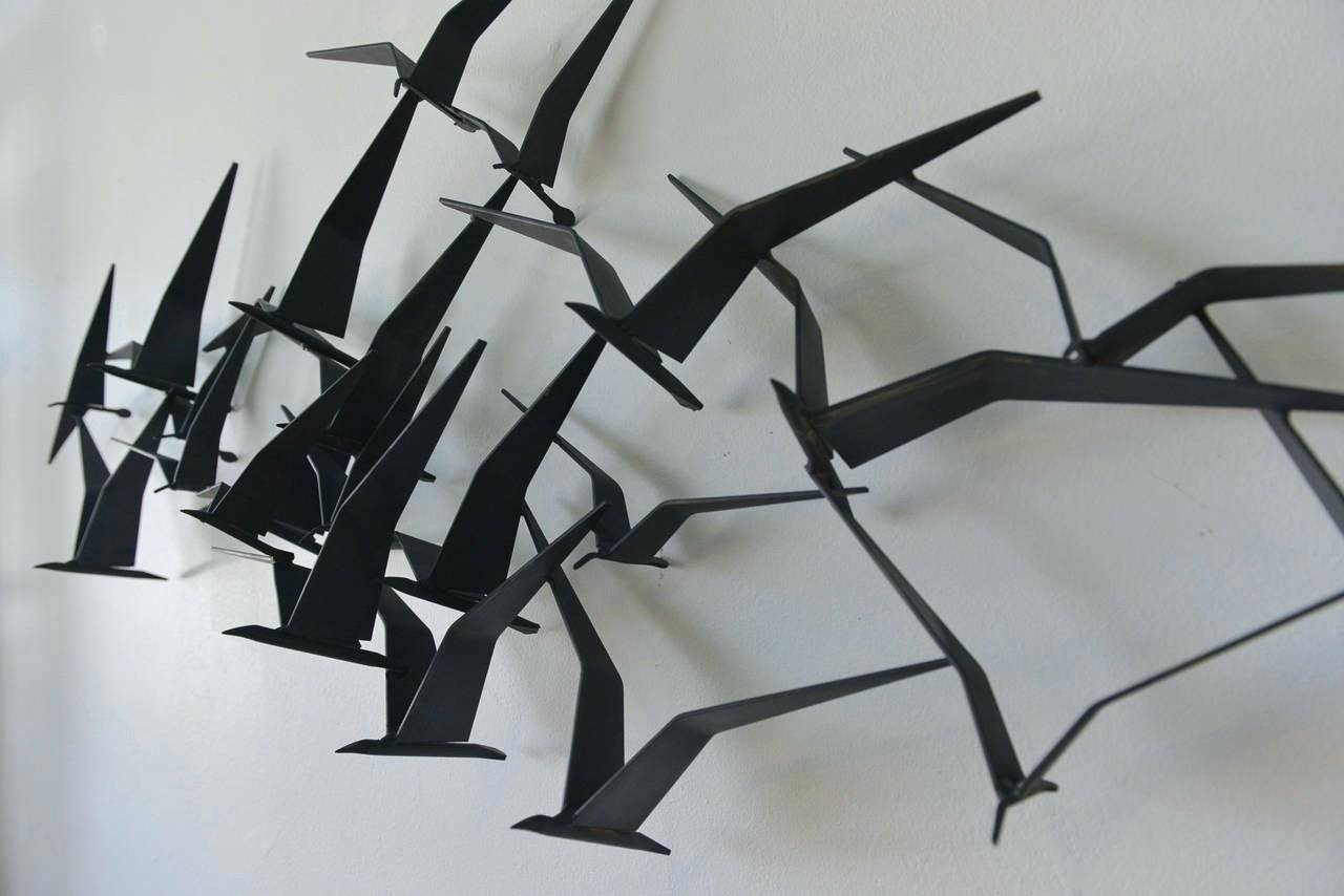 Wall Arts: Bird Metal Wall Art (View 17 of 20)
