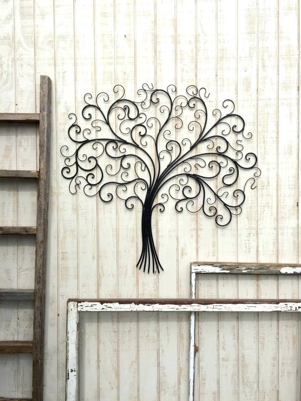 Wall Arts ~ Black Metal Swirl Wall Art Swirl Metal Wall Art Wall Regarding Newest Vertical Metal Wall Art (View 14 of 20)