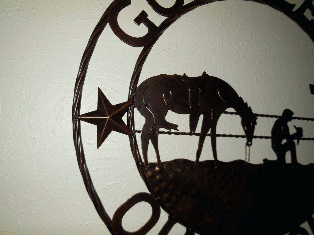 Wall Arts ~ Bless This Home Wall Art God Bless Our Home Cowboys For Most Recently Released Cowboy Metal Wall Art (View 15 of 20)